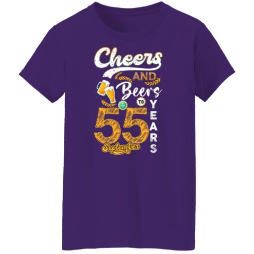 September 1966 55 Years Old Cheers Beer To My 55th Birthday T-Shirt 13 of Sapelle