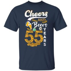 September 1966 55 Years Old Cheers Beer To My 55th Birthday T-Shirt 17 of Sapelle