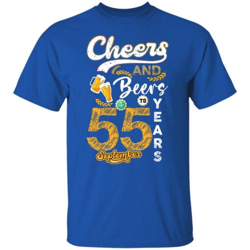 September 1966 55 Years Old Cheers Beer To My 55th Birthday T-Shirt 5 of Sapelle