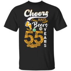 September 1966 55 Years Old Cheers Beer To My 55th Birthday T-Shirt 23 of Sapelle