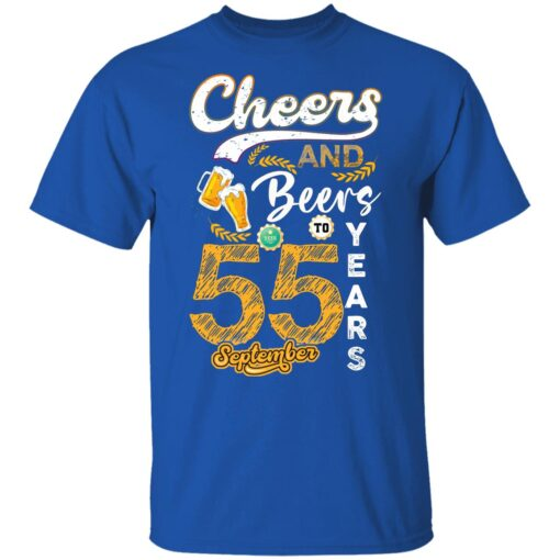 September 1966 55 Years Old Cheers Beer To My 55th Birthday T-Shirt 9 of Sapelle