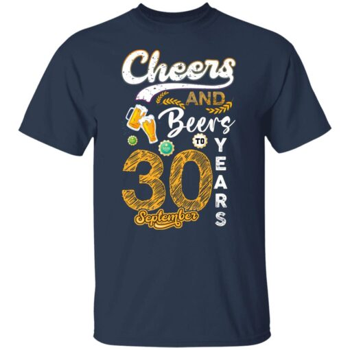 September 1991 30 Years Old Cheers Beer To My 30th Birthday T-Shirt 3 of Sapelle
