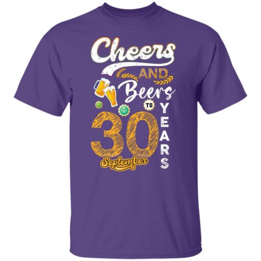 September 1991 30 Years Old Cheers Beer To My 30th Birthday T-Shirt 4 of Sapelle
