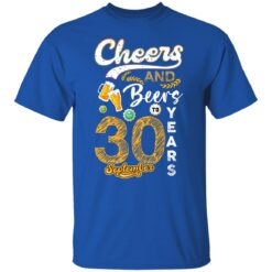 September 1991 30 Years Old Cheers Beer To My 30th Birthday T-Shirt 17 of Sapelle