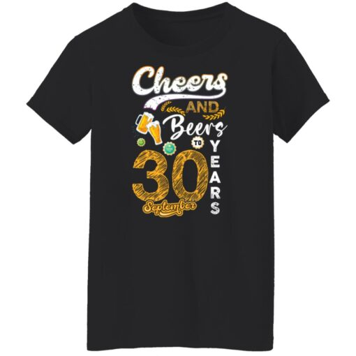 September 1991 30 Years Old Cheers Beer To My 30th Birthday T-Shirt 6 of Sapelle