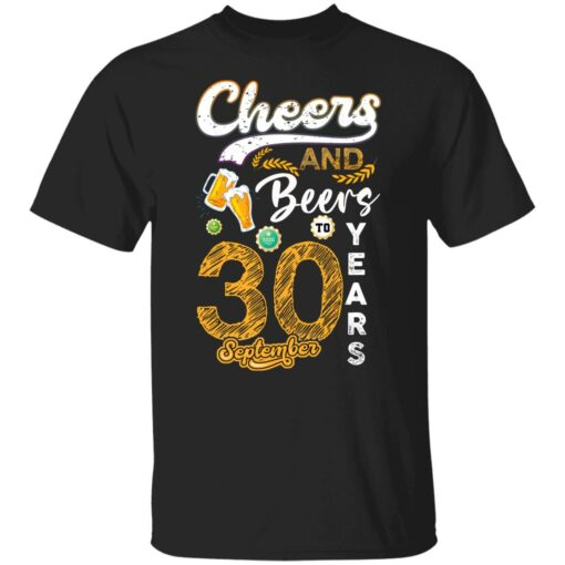 September 1991 30 Years Old Cheers Beer To My 30th Birthday T-Shirt 1 of Sapelle