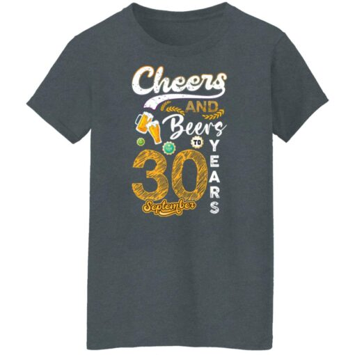 September 1991 30 Years Old Cheers Beer To My 30th Birthday T-Shirt 7 of Sapelle