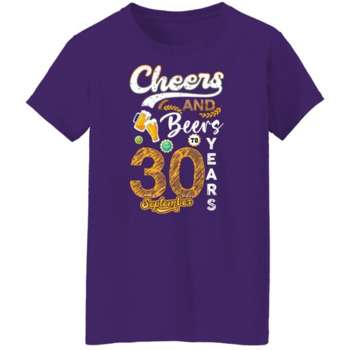 September 1991 30 Years Old Cheers Beer To My 30th Birthday T-Shirt 9 of Sapelle