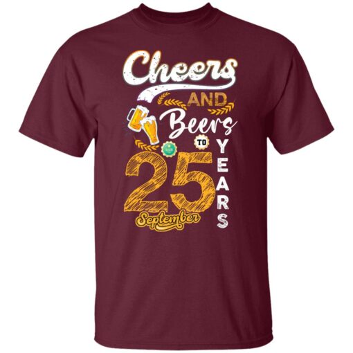 September 1996 25 Years Old Cheers Beer To My 25th Birthday T-Shirt 2 of Sapelle
