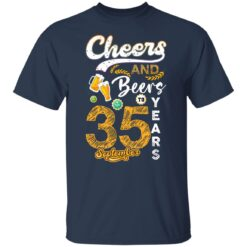 September 1986 35 Years Old Cheers Beer To My 35th Birthday T-Shirt 13 of Sapelle