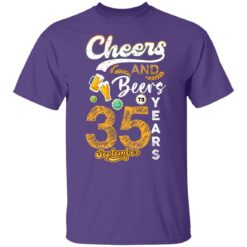 September 1986 35 Years Old Cheers Beer To My 35th Birthday T-Shirt 15 of Sapelle