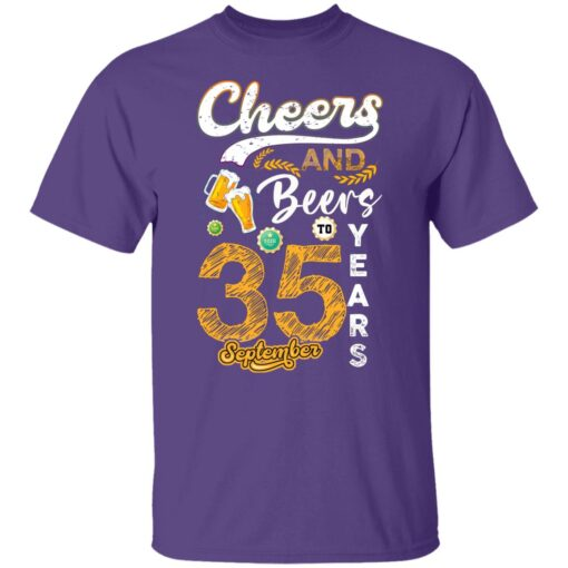 September 1986 35 Years Old Cheers Beer To My 35th Birthday T-Shirt 4 of Sapelle