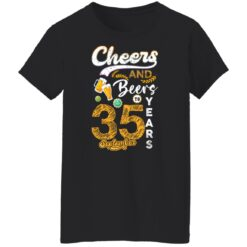September 1986 35 Years Old Cheers Beer To My 35th Birthday T-Shirt 19 of Sapelle