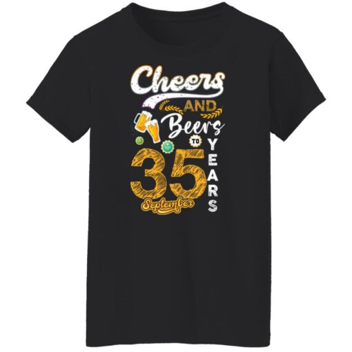September 1986 35 Years Old Cheers Beer To My 35th Birthday T-Shirt 6 of Sapelle