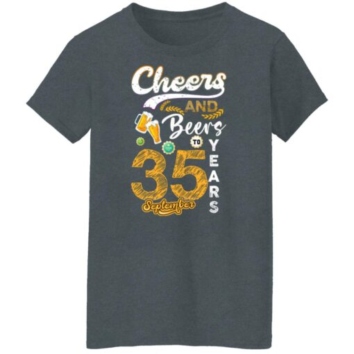September 1986 35 Years Old Cheers Beer To My 35th Birthday T-Shirt 7 of Sapelle