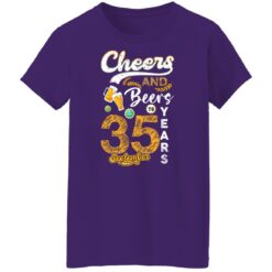 September 1986 35 Years Old Cheers Beer To My 35th Birthday T-Shirt 25 of Sapelle