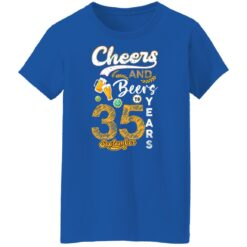September 1986 35 Years Old Cheers Beer To My 35th Birthday T-Shirt 27 of Sapelle