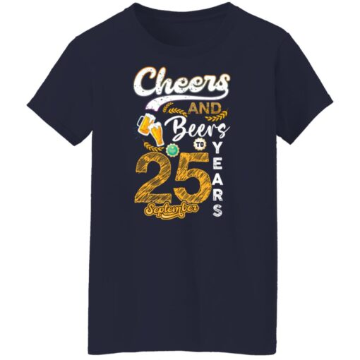 September 1996 25 Years Old Cheers Beer To My 25th Birthday T-Shirt 7 of Sapelle