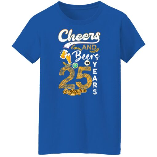 September 1996 25 Years Old Cheers Beer To My 25th Birthday T-Shirt 9 of Sapelle