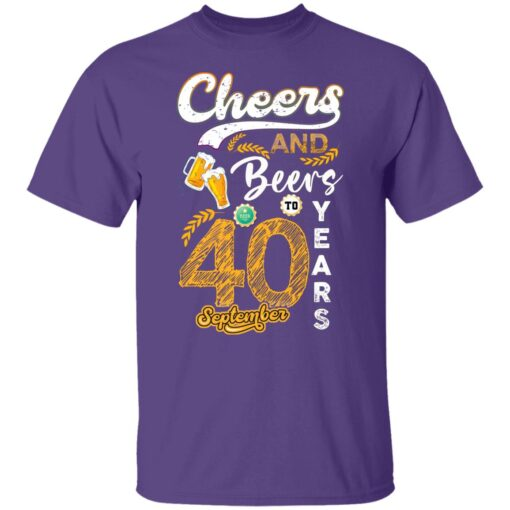 September 1981 40 Years Old Cheers Beer To My 40th Birthday T-Shirt 4 of Sapelle