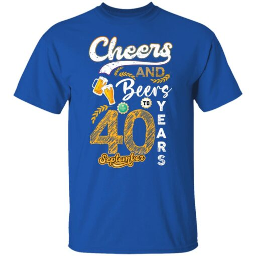 September 1981 40 Years Old Cheers Beer To My 40th Birthday T-Shirt 5 of Sapelle