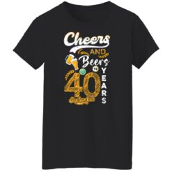 September 1981 40 Years Old Cheers Beer To My 40th Birthday T-Shirt 19 of Sapelle
