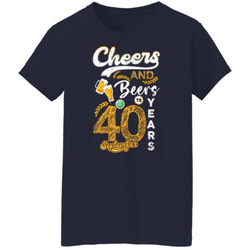 September 1981 40 Years Old Cheers Beer To My 40th Birthday T-Shirt 8 of Sapelle