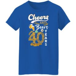 September 1981 40 Years Old Cheers Beer To My 40th Birthday T-Shirt 27 of Sapelle