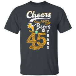 September 1976 45 Years Old Cheers Beer To My 45th Birthday T-Shirt 11 of Sapelle
