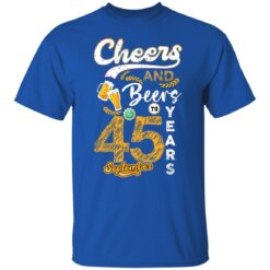 September 1976 45 Years Old Cheers Beer To My 45th Birthday T-Shirt 17 of Sapelle