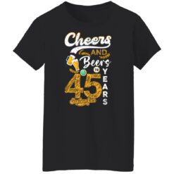 September 1976 45 Years Old Cheers Beer To My 45th Birthday T-Shirt 19 of Sapelle