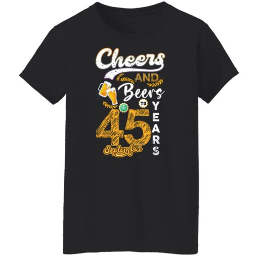 September 1976 45 Years Old Cheers Beer To My 45th Birthday T-Shirt 6 of Sapelle