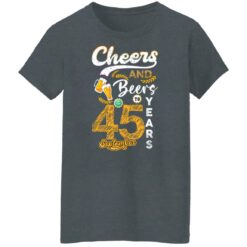 September 1976 45 Years Old Cheers Beer To My 45th Birthday T-Shirt 21 of Sapelle