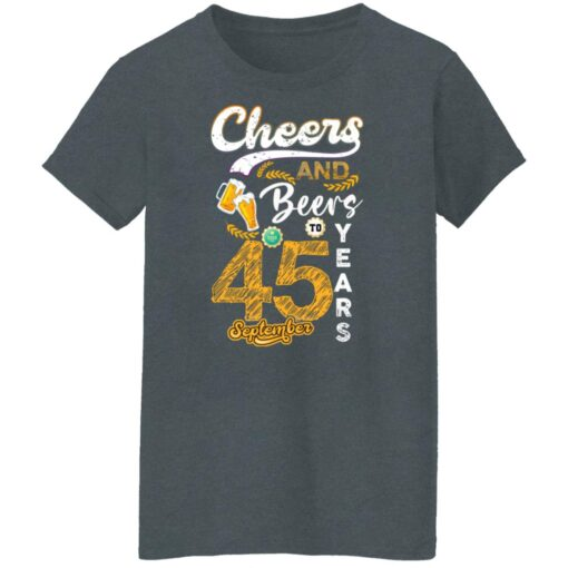 September 1976 45 Years Old Cheers Beer To My 45th Birthday T-Shirt 7 of Sapelle