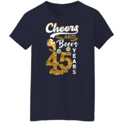 September 1976 45 Years Old Cheers Beer To My 45th Birthday T-Shirt 23 of Sapelle