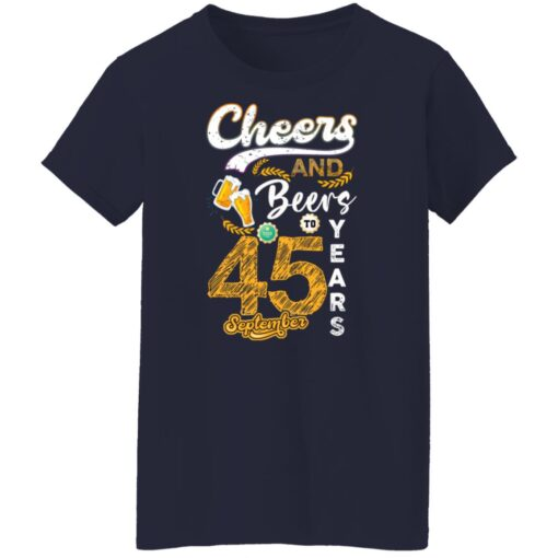 September 1976 45 Years Old Cheers Beer To My 45th Birthday T-Shirt 8 of Sapelle