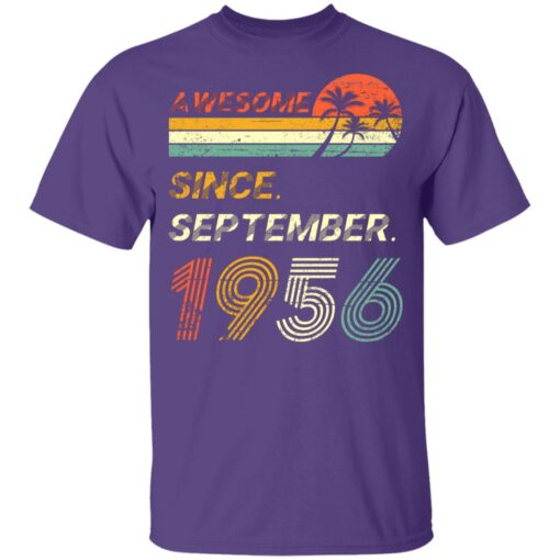 Gift 65 Years Old Awesome Since September 1956 65th Birthday T-Shirt 11 of Sapelle