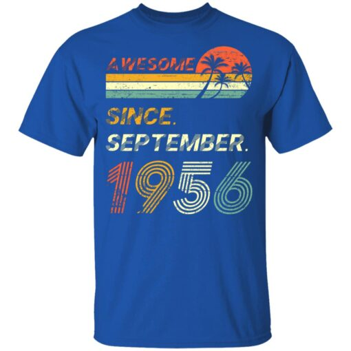 Gift 65 Years Old Awesome Since September 1956 65th Birthday T-Shirt 12 of Sapelle