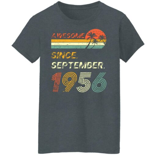 Gift 65 Years Old Awesome Since September 1956 65th Birthday T-Shirt 14 of Sapelle
