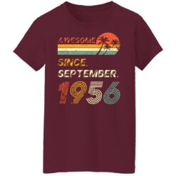 Gift 65 Years Old Awesome Since September 1956 65th Birthday T-Shirt 45 of Sapelle