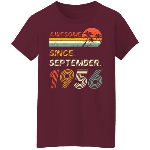 Gift 65 Years Old Awesome Since September 1956 65th Birthday T-Shirt 15 of Sapelle