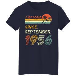 Gift 65 Years Old Awesome Since September 1956 65th Birthday T-Shirt 47 of Sapelle