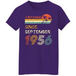 Gift 65 Years Old Awesome Since September 1956 65th Birthday T-Shirt 49 of Sapelle