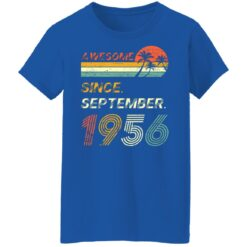Gift 65 Years Old Awesome Since September 1956 65th Birthday T-Shirt 51 of Sapelle