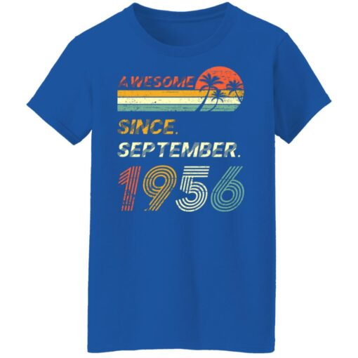 Gift 65 Years Old Awesome Since September 1956 65th Birthday T-Shirt 18 of Sapelle