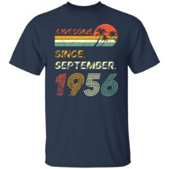 Gift 65 Years Old Awesome Since September 1956 65th Birthday T-Shirt 23 of Sapelle