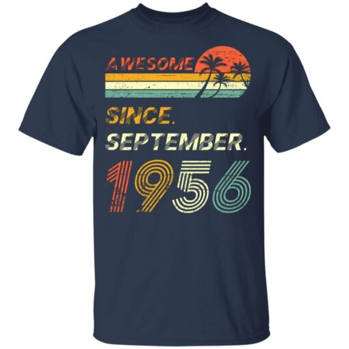 Gift 65 Years Old Awesome Since September 1956 65th Birthday T-Shirt 10 of Sapelle