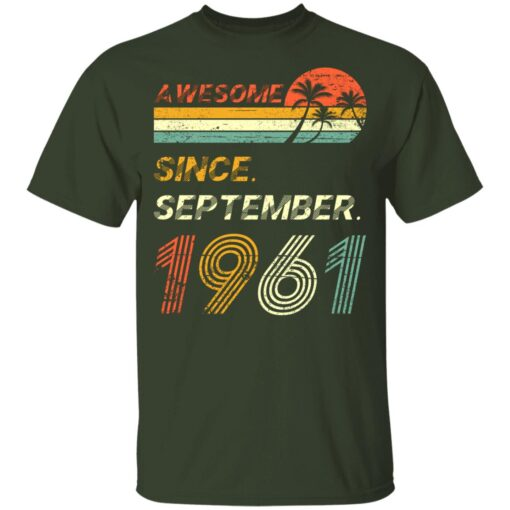 Gift 60 Years Old Awesome Since September 1961 60th Birthday T-Shirt 8 of Sapelle