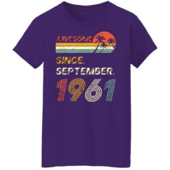 Gift 60 Years Old Awesome Since September 1961 60th Birthday T-Shirt 49 of Sapelle