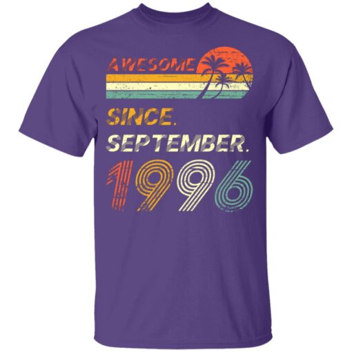25th Birthday Vintage Awesome Since September 1996 25 Years T-Shirt T-Shirt 11 of Sapelle